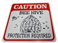 Sign Caution Bee Hive