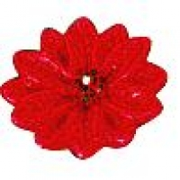 Candle Floating Poinsettia