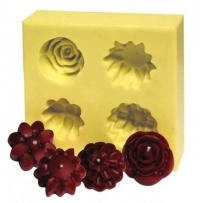 Candle Flowers set of 4