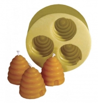 Candle Bee Skep Set of 3